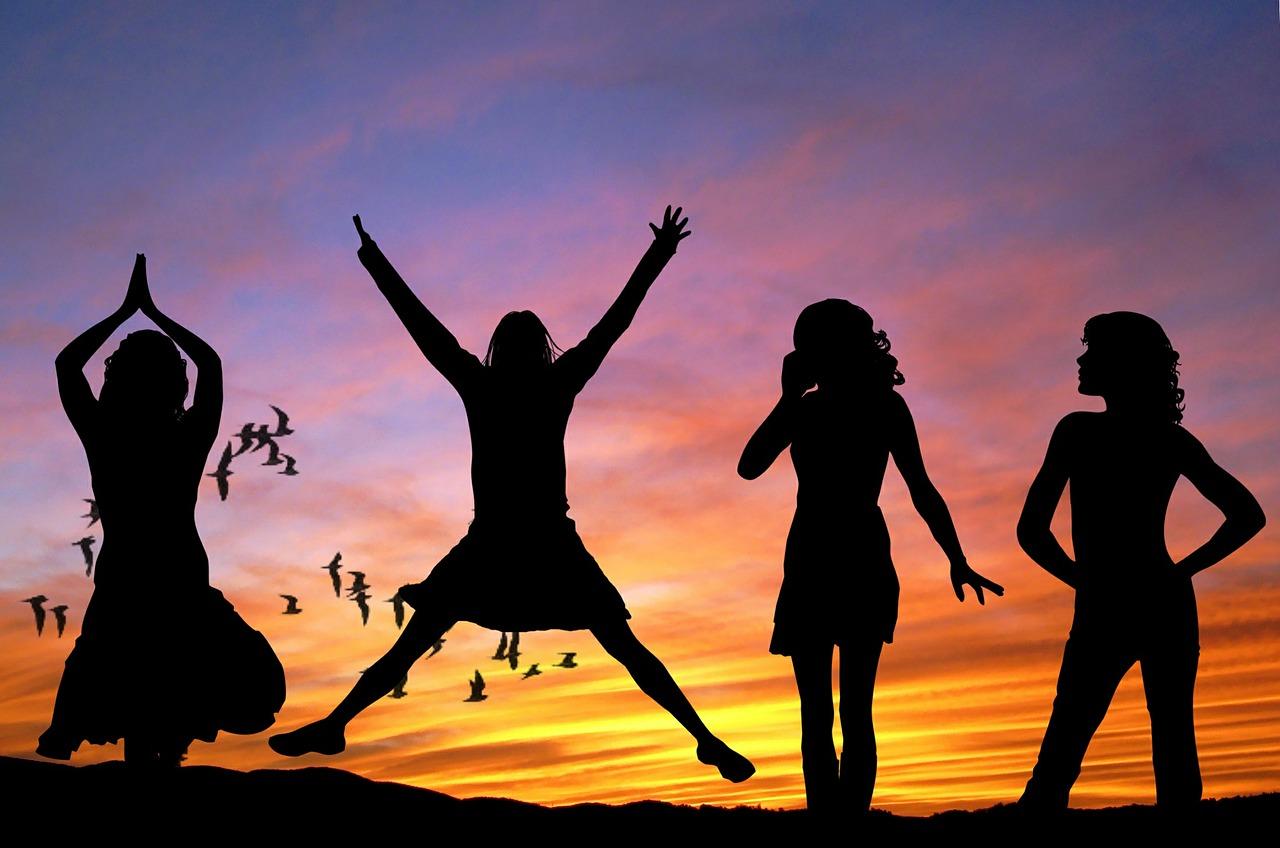 girls, women, happy